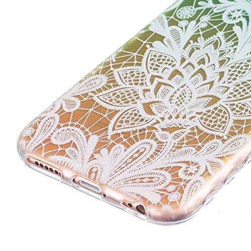 Coque iPhone SE / 5 / 5S, SpiritSun Etui Coque TPU Slim Bumper pour Apple iPhone SE / 5 / 5S Souple Housse de Protection Flexible Soft Case Cas Couverture Anti Choc Mince Légère Transparente Silicone  Lis Fleur