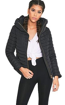 Womens Black Mara Black Padded Jacket: Amazon.co.uk: Clothing
