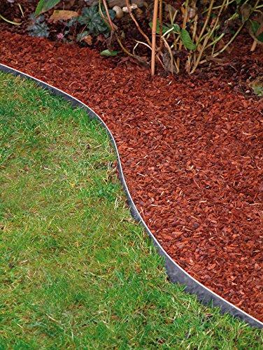 Bellissa 10 St. Rasenkante Rasenkanten Metall verzinkt 118×13 cm Gesamtabmessung 11.5 m