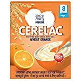 Nestlé Cerelac Fortified Baby Cereal with Milk – 8 Months+, Stage 2, Wheat Orange, 300g