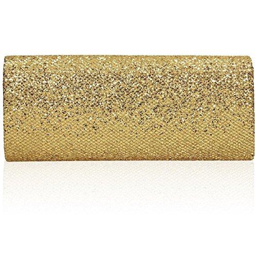 xardi Londra glitter Designer Donna Frizione sposa donna busta sera borse Gold