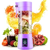 LEVERET Portable Electric USB Juice Maker Juicer Bottle Blender Grinder Mixer,4 Blades Rechargeable Bottle with (Multi…