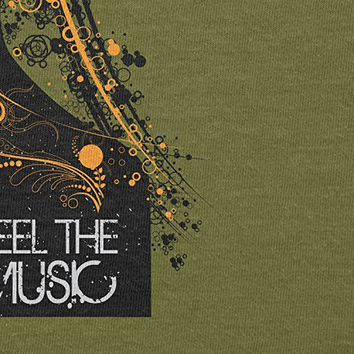 TEXLAB - Feel the Music - Herren T-Shirt Oliv