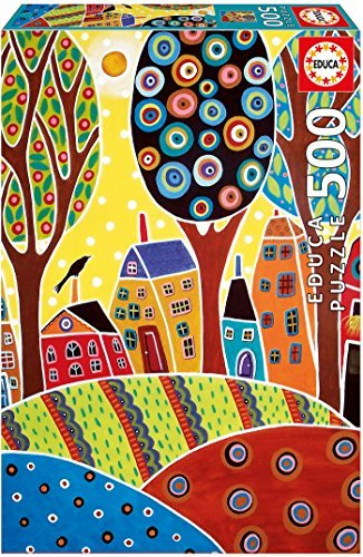 Educa 16732Jigsaw Puzzle 500Houses Barn Landscape, Karla Gerard, by Educa