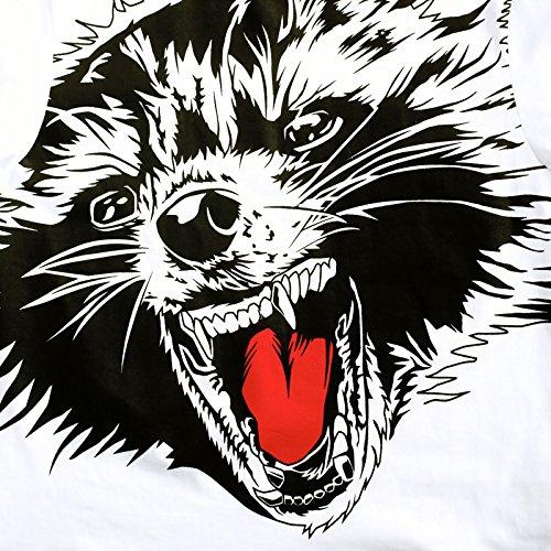 Guardians of the Galaxy Vol 2 Herren T-Shirt Rocket Raccoon Full Size Baumwolle weiß Mehrfarbig