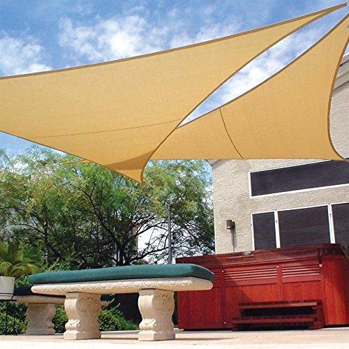 coolaroo-sonnenschutzset-dreieckiges-segeltuch-und-mast-36-x-36-36-m