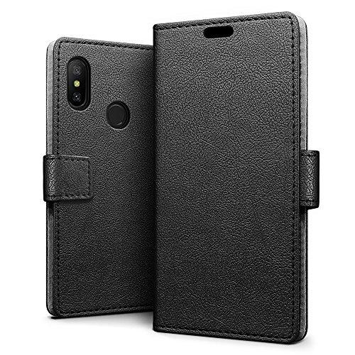 SLEO Funda para Xiaomi Mi A2 Lite/Xiaomi Redmi 6 Pro Carcasa Libro de Cuero Ultra Delgado Billetera Cartera [Ranuras de Tarjeta,Soporte Plegable,Cierre Magnético] Case Flip Cover