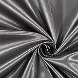 Fabulous Fabrics Polyestersatin Stoff anthrazit — Meterware ab 0,5m — Satin zum Nähen von Kissen und Tagesdecken, Tischdekorationen und Bettwäsche