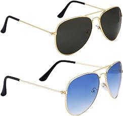 Elgator Unisex Sunglasses Combo With Plastic Box