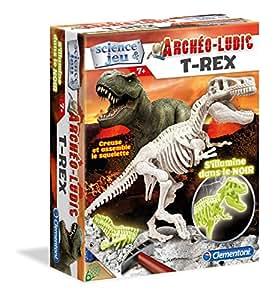 Clementoni - A1501614 - Figurine Dinosaure - Tyrannosaure Fluorescent