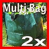 2 x Multi Bag Tasche Gartensack Laubsack Garten-Sack Laub-Sack 158 Liter NEU