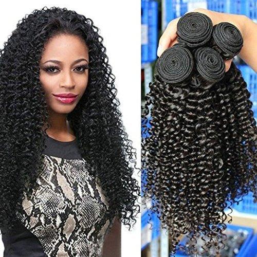 Extensions de cheveux humains Perruques de cheveux humains cheveux vierges malaisiens 100% naturels non traités bouclés Profondeur d'eau/Wave cheveux 100 g/Noir naturel de couleur mixte Longueur (26 28 30)