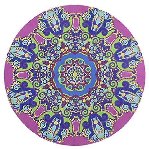 Serviette de plage Couvre-lit, 1PC Omiky® Bohême Floral hippie Tapisserie géométrique Bikini Cover Up Couverture de pique-nique Tapis de yoga Nappe Housse de matelas à suspendre au mur, Polyester, # E, 150*150cm/59*59