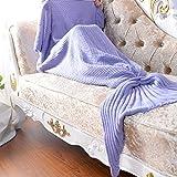 Neify - Manta tejida de la manta de la manta de la sirena para los cabritos y los adultos Súper suave y la manera que dormía los bolsos Modelo clásico el mejor regalo de la Navidad del cumpleaños ( Color : Purple 80*180cm )