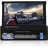 VBESTLIFE Bluetooth Auto Stereo, 7 in Auto MP5 Lettore Video Singolo DIN Auto Lettore multimediale, Supporto Ape, FLAC, WAV,