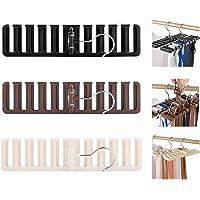 Biluer 3 Pièces Cintre Porte-Cravate Rangement Ceinture Dressing Porte Ceinture pour Cravates Foulards Châles Ceintures…