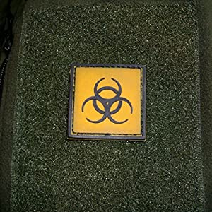 3 D rubber patch tactical biohazard risque de zombi aBC symbole utilisation de détecter les armes airsoft uniform écussons cou army 4 x 4 cm - 16277