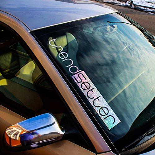 TREND SETTER Frontscheiben Aufkleber Auto Hologramm, Regenbogen Farben Folie, Sticker Oilslick, Decal Vinyl Rainbow, Lazer Folie, 4d Style, Glitzer Flakes Folie