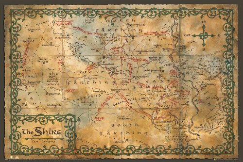 GB eye LTD, The Hobbit, Mappa of the Shire, Maxi Poster, 61 x 91,5 cm