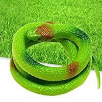 TwoCC Plastic Soft Simulation Snake Cobra Gefälschtes Schlangenspielzeug Streich Scary Spoof Toy