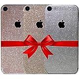 Arktis iPhone 7 Diamond Skin Bling Glitzerfolie Schutzfolie 3er Set - Rosé - Champagner Gold - Silber