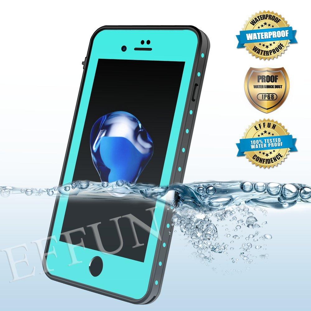 iPhone 8/iPhone 7 Waterproof Case, EFFUN DOTTIE Style IP68 Certified Underwater Cover Shock/Dirt/Sno