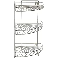 Kuber Industries Stainless Steel Storage Rack, Silver (CTKTC1348)