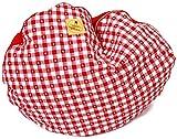 Tracht Cojín de perros Rojo Emma 's hundsgemütlich cama para perros Campesinos Corazón cuadros lavable redondo 70cm allergieneutral