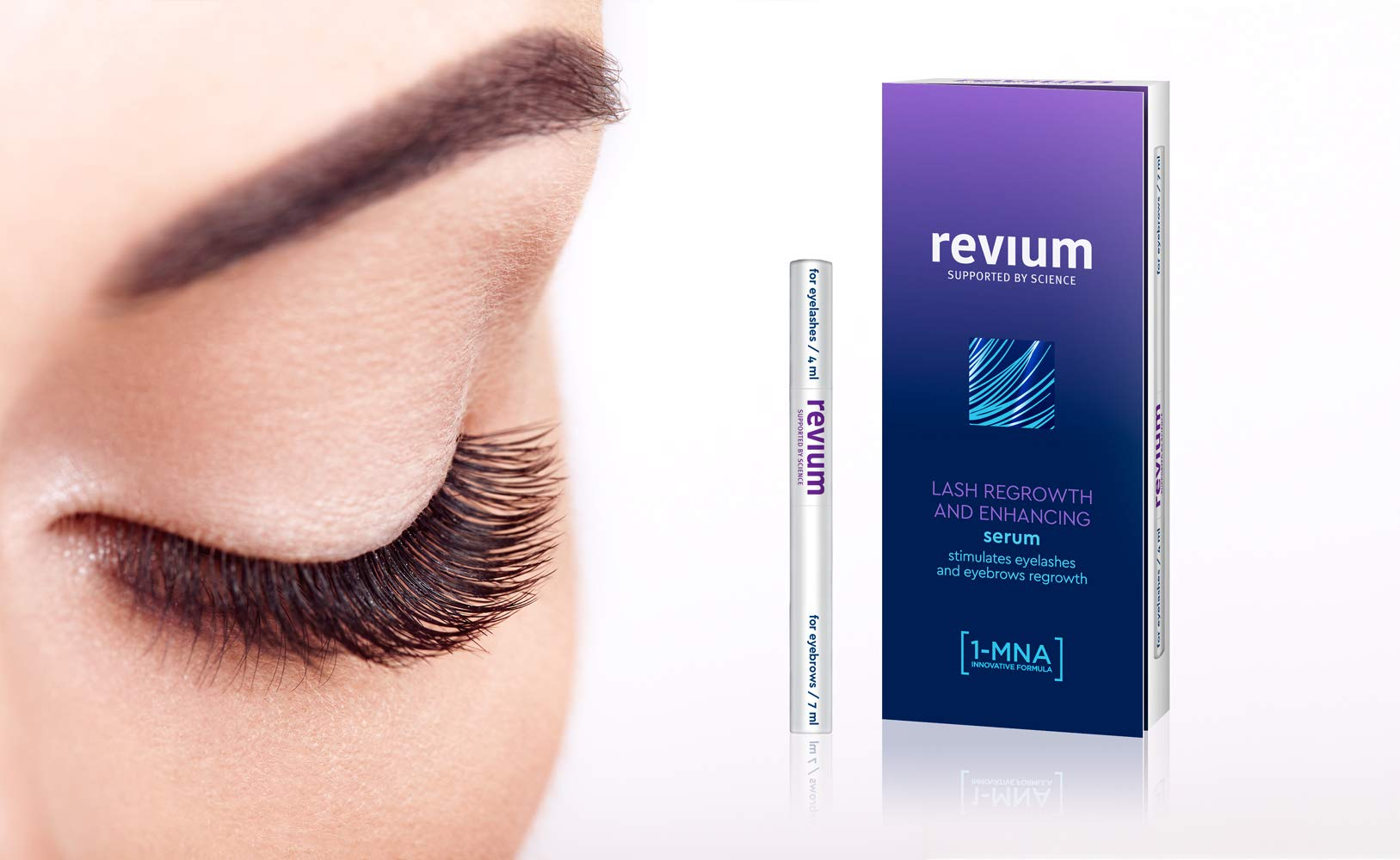 REVIUM SUPER LASH GROWTH CONDITIONER FOR EXCESSIVELY FALLING OUT AND THINNED EYELASHES AND EYEBROWS WITH 1-MNA MOLECULE…