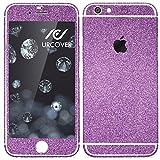 Urcover Apple iPhone 7 Plus Glitzer-Folie zum Aufkleben | Folie in Lila | Zubehör Glitzerhülle Handyskin Diamond Funkeln Schutzfolie Handy-schutz Luxus Bling Glamourös