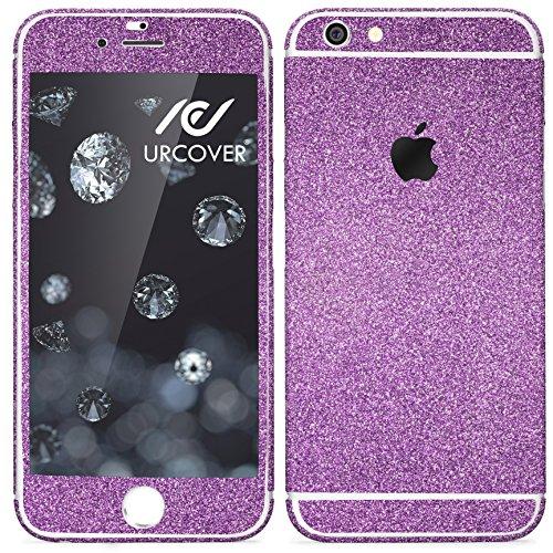 Urcover® Glitzer-Folie zum Aufkleben kompatibel mit Apple iPhone 7 Plus Folie in Lila | Zubehör Glitzerhülle Handyskin Diamond Funkeln Schutzfolie Handy-Schutz Luxus Bling Glamourös