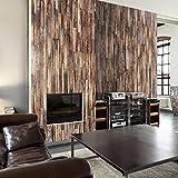 murando - PURO TAPETE - Realistische Holzoptik Tapete ohne Rapport und Versatz - Kein sich wiederholendes Muster - 10m Vlies Tapetenrolle - Wandtapete - modern design - Fototapete - Holz f-A-0205-j-b
