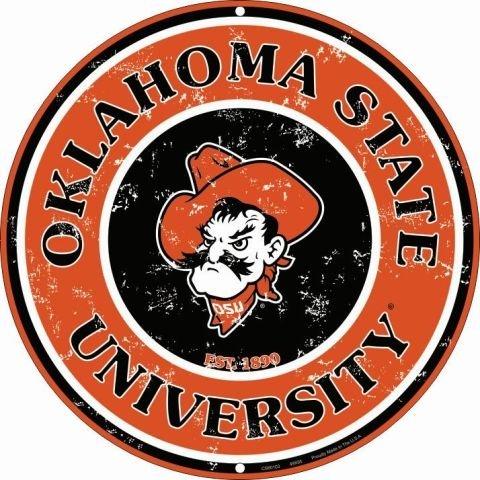 Pride Plates CS60103 Metallschild, Motiv University of Oklahoma State (Retro) -