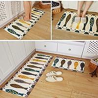 SMCTCRED Cucina tappetini da bagno Tappeti Anti-Slip di acqua corridore resistente per casa e ufficio (15.74 pollici * 23.62 * pollici 0,39 pollici)