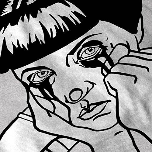 Traurig Mädchen Cool Seltsam Komisch Damen Schwarz S-2XL T-shirt   Wellcoda Grau