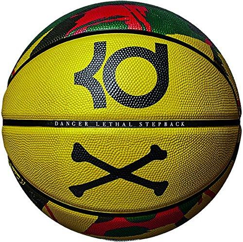 5c7bc3000fa Nike Pallone Da Basket Kevin Durant 07 Playground 8P Pallacanestro Uomo NBA  GSW Dark Citron