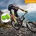 MMLC Reflektorband Reflektierendes Armband Reflektor Sicherheit Reflexband Outdoor Joggen Radfahren Fahrrad Laufen Reiten Kinder Klettverschluss Elastisch Leuchtband - Neon-Gelb