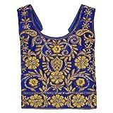 Arshia Fashions Girl Net Blue Golden Emb...