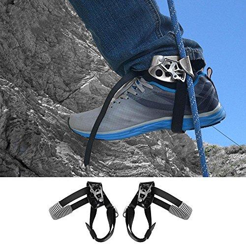 Pinkfishs alpinismo outdoor roccia arrampicata piede sinistro corda ascendente attrezzatura dispositivo strumento -