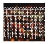 Unbekannt 'zarte Scheibengardine Sternentraum aus Spitze 40 cm hoch x 80 cm breit