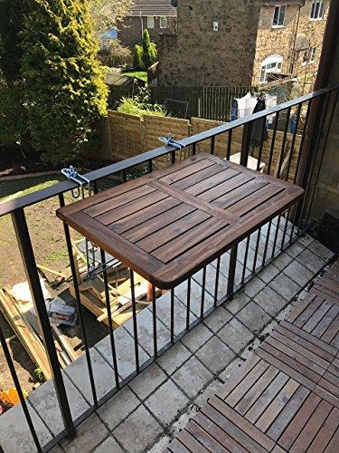 Click deck tavolo da balcone in legno massiccio tavolo for Tavolino per balcone