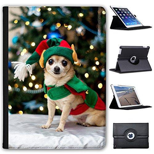 Fancy A Snuggle Chihuahua als Weihnachtself Verkleidet Case Cover/Folio aus Kunstleder für Das Apple iPad Pro 9.7'