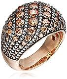 Joop Damen-Ring EXTREME PAVÈE 925 Silber Zirkonia beige Gr. 55 (17.5) - JPRG90763C550