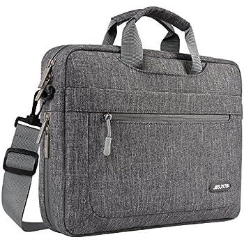 0f50358d78 mosiso Housse Compatible 17-17,3 Pouces MacBook/Notebook/Netbook/Chromebook/ Tablette, Polyester Messager Sac Bandoulière Ordinateur Portable Sacoche  avec ...