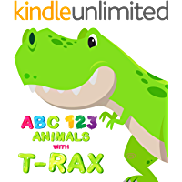 My First Animals ABC and 123 with T-Rex Dinosaur picture book: Learning to Count Numbers and Alphabet for Toddler and…