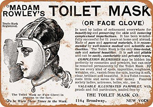 Madam 1900 Rowley'WC-Maske, Reproduktion, Vintage-Look, Metall - 1900-wc