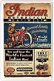 Indian Motorcycle Motocicletta Bike 20x 30cm Decorazione nostalgica Piastra 1455