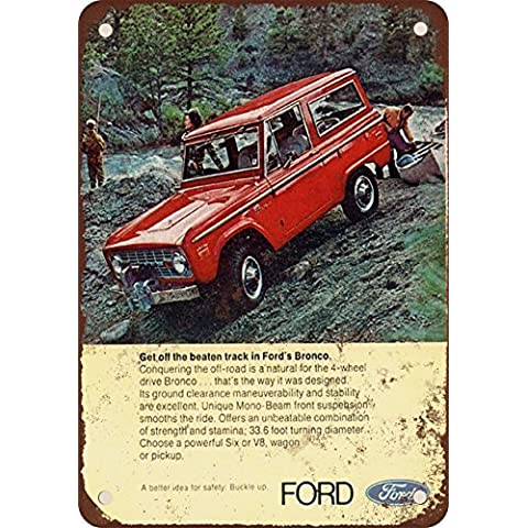 1971Ford Bronco Look Vintage Riproduzione Targa in