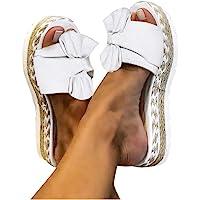 Sandales Plates Femme Bout Ouvert Pantoufles Slip-on Été Claquettes Nu Pieds Semelle Compensée Confortable Chaussures…