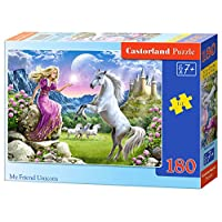 Castorland CSB018024 Classic My Friend Unicorn Jigsaw Puzzle, 180 Pieces Set, Multicolour